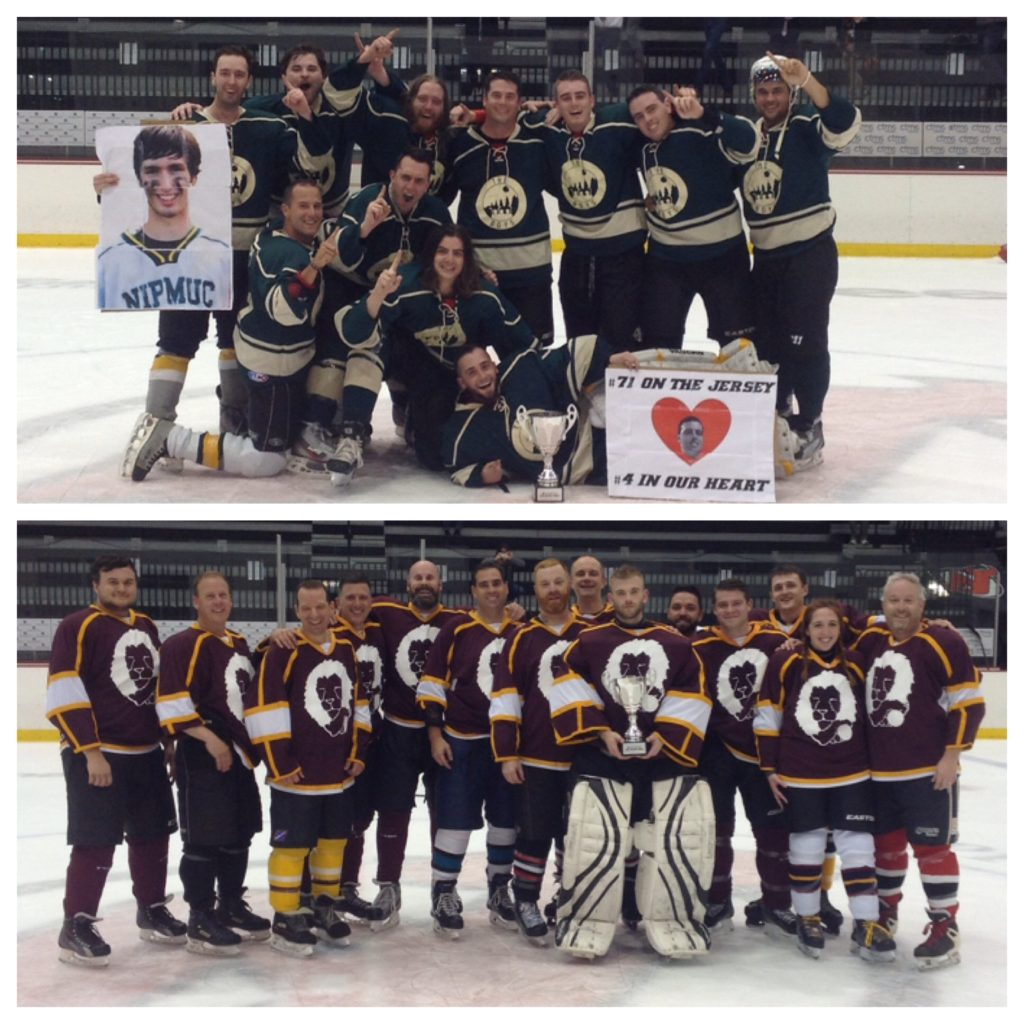 Congratulations to this Spring's Devils Adult Hockey League champions; The Boys (top) and the Tired Lions (bottom).